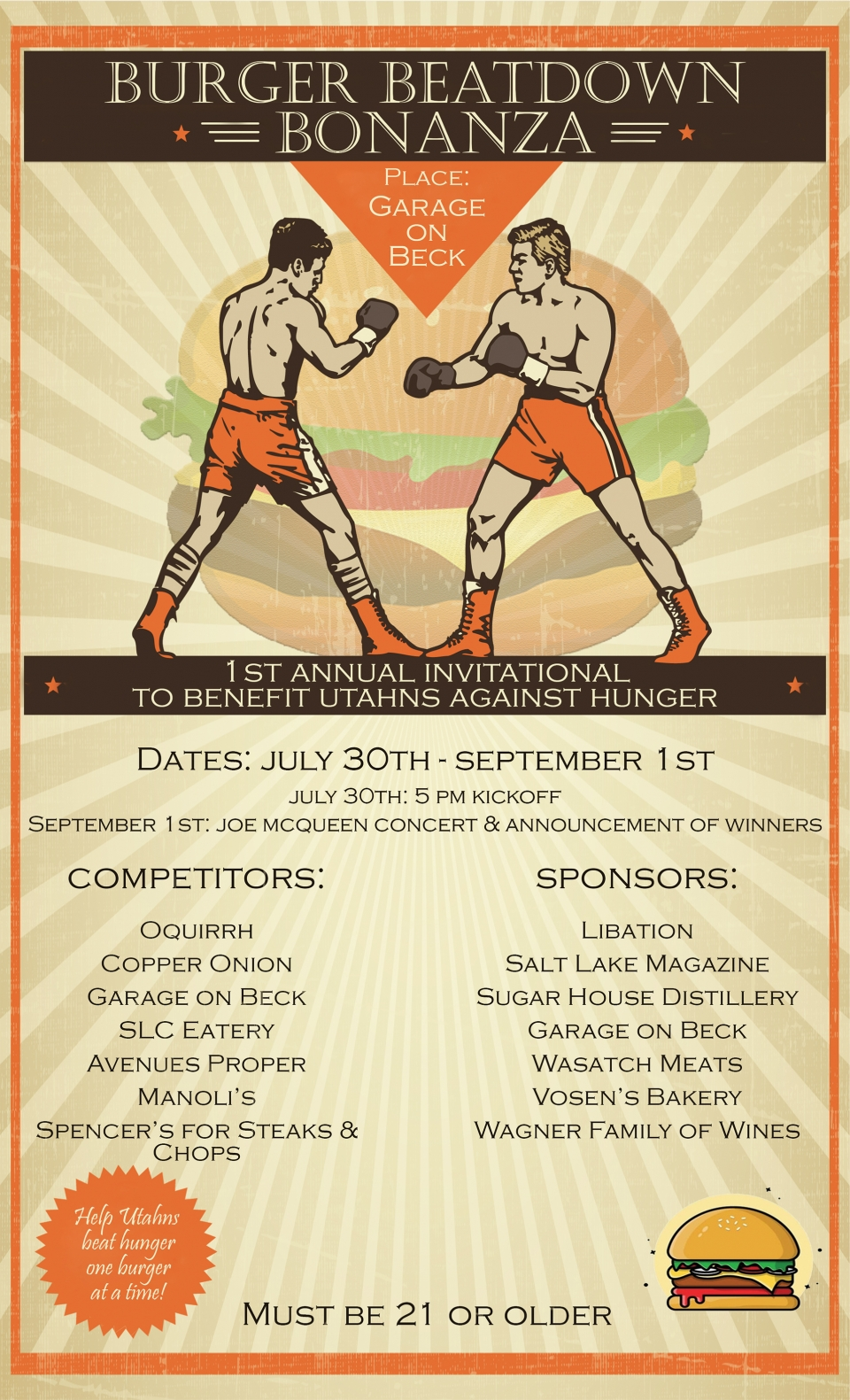 Support UAH at the Burger Beatdown Bonanza
