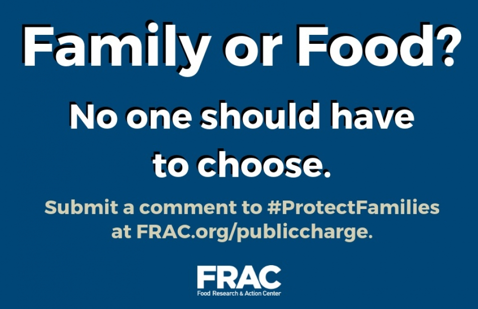 Protect Families: Submit Your Comment to Oppose Public Charge Rule